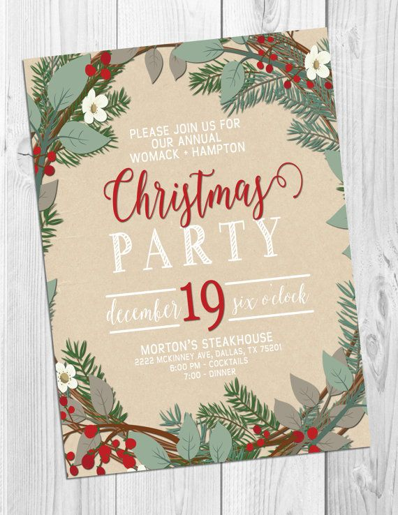 Best  Christmas Party Invitations Ideas On