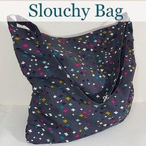 Free bag sewing pattern. Cute and easy beginner bag! the Slouchy bag by loreleijayne