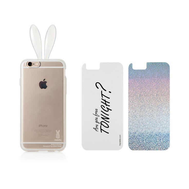 Rabito Rabbit Ears Transparent Rainbow Color iPhone 6 Case
