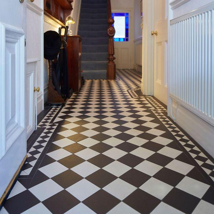 Oxford Victorian Floor Tile Pattern with bespoke Kingsley border