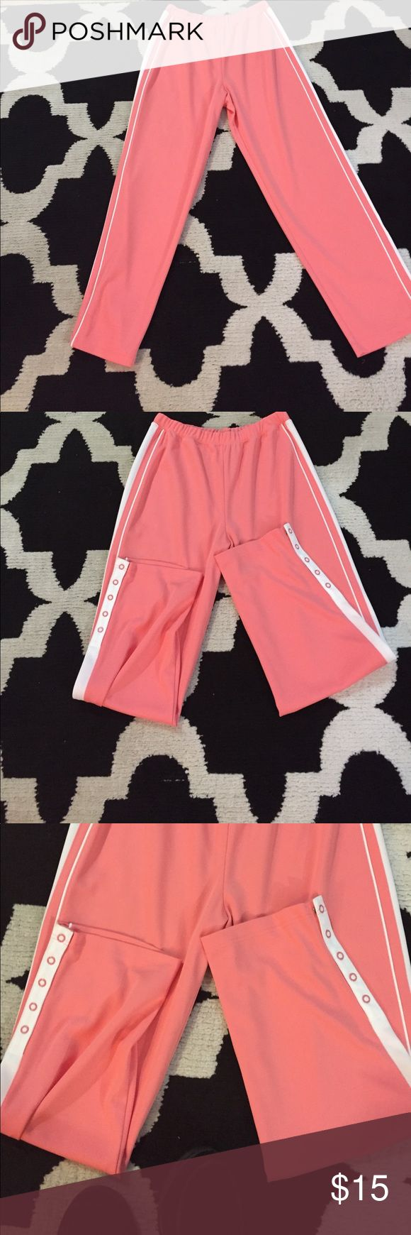 Studio Works women's Athletic Wear Pants Women's workout pants size medium, 100% polyester, color pinks and white.. Pants are in like new condition.. Studio Works Pants