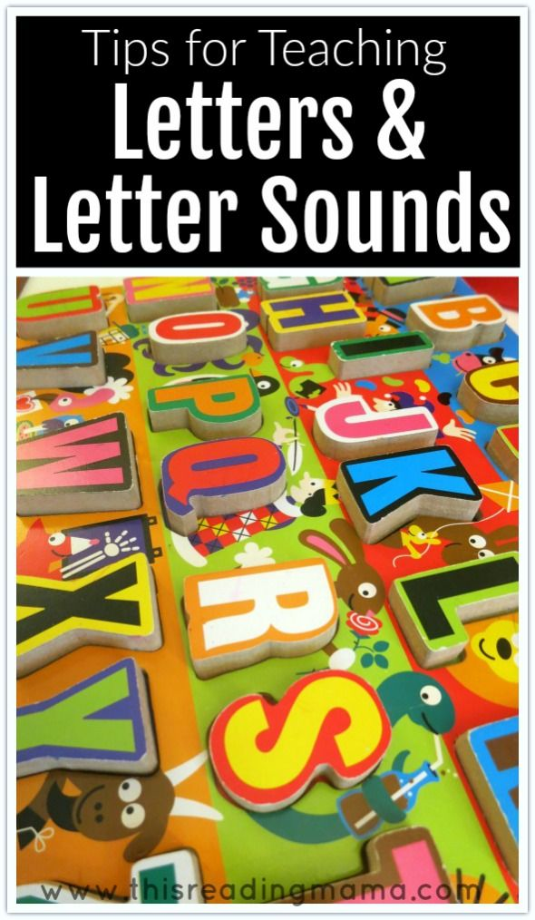 Tips for Teaching Letters and Letters Sounds - This Reading Mama