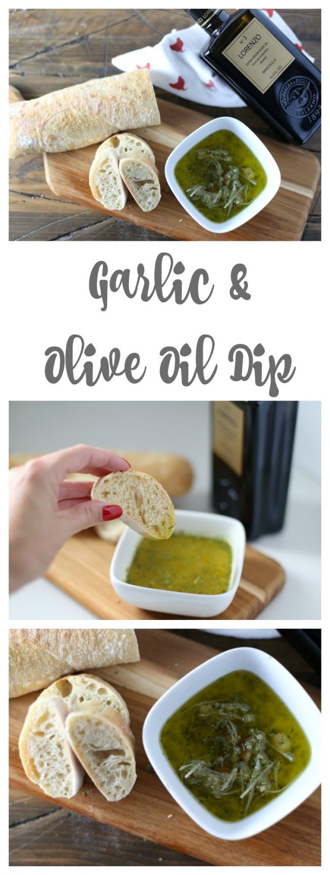Garlic and Olive Oil Dipping Sauce