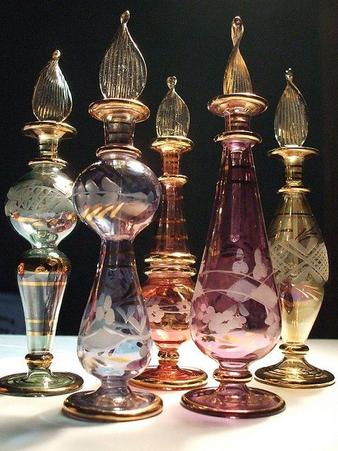 1001 nights (my love for Egyptian perfume bottles is a little embarrassing).