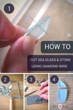 This helpful tutorial explains in easy to follow steps how to cut sea glass, stones, shell, ceramic and shards of broken china using diamond wire hand saw blades.