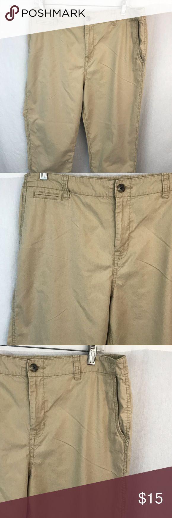 "Lauren Ralph Lauren Lightweight Chinos Womens 10 Great pair of lightweight khaki slacks chinos by Lauren Ralph Lauren Women's Size 10.  Flat front.  They zipper and button in the front.    Great pre-owned condition.  No holes, stains or frays.  10  Waist = 18"" measured flat.  Rise = 11"".  Inseam - 30"".  Leg opening = 7"".  Thanks for looking and please feel free to ask questions. Lauren Ralph Lauren Pants Trousers"