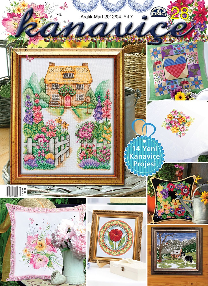 Kanaviçe Sayı 28 - my house and garden cross stitch design on the front cover