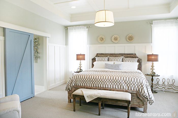 I would LOVE to have a barn door somewhere! Master bathroom maybe...