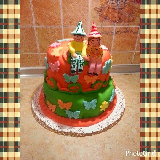 Szülinapi torta ikreknek
