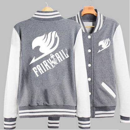 real limited special offer full new couples clothing anime fairy tail guild emblem baseball sweatshirt jacket men hoodie