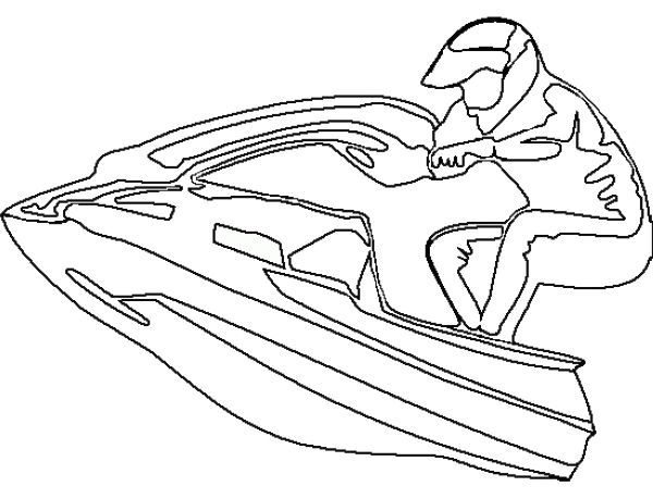 Printable Jet Ski Coloring Pages Sports Coloring Pages Jet Ski