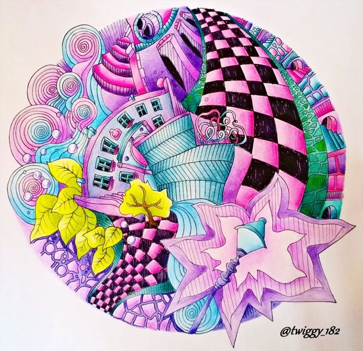 Magical City By Lizziemarycullen FC Polychromos Prismacolor Magicalcity Magicalcitycoloringbook Magicalcities Coloring BooksAdult