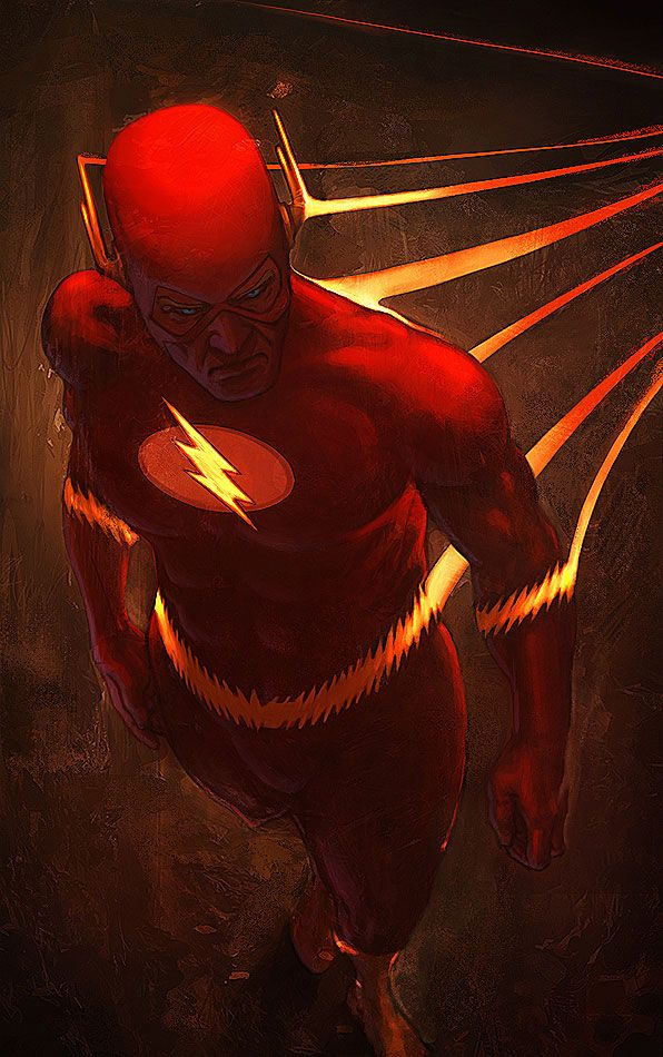 Flash, by Memed. Nice. I really like the Flash. He really has some  awesome aspects that are overlooked. I feel like he moves so fast he lives in a different reality from the rest of us.