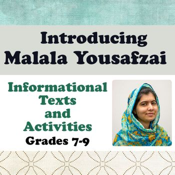 Introducing Malala Yousafzai: Informational Texts, Activities begins with a pre-reading activity, a survey regarding activism.  Many students may not be familiar with the meaning of the word are even how activism relates to many historical figures they might have already studied (such as Martin Luther King, Jr.).