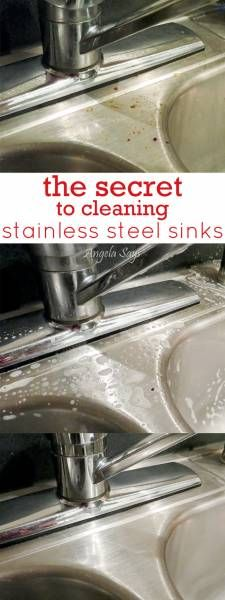 The secret to cleaning stainless steel shinks