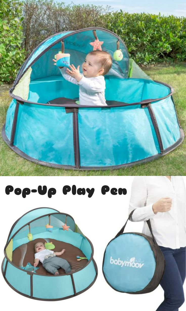 I need this easy pop-up play pen to bring baby with me wherever I go. It has a mattress, mosquito net, toys and an easy to carry bag. #baby #commissionlink