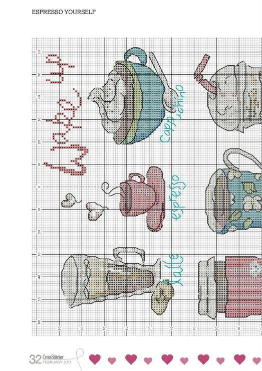 1552 best cross stitch images on pinterest disney cross for Cross stitch kitchen designs