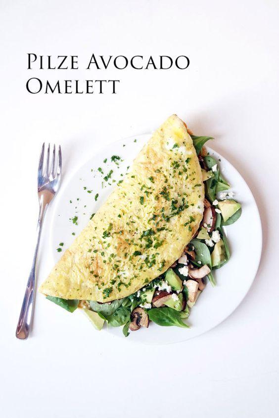 Clean Eating Rezepte: Pilze Avocado Omelett