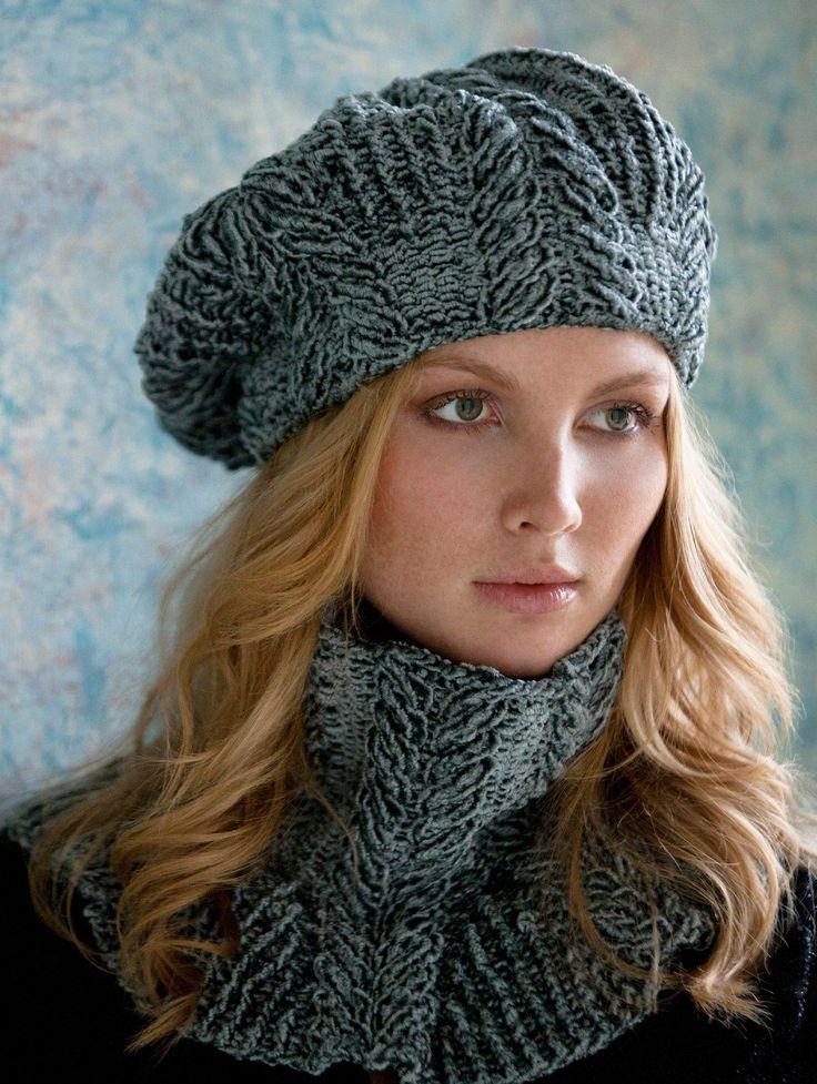 conjunto de boina com cachecol em crochê   Beleza   Pinterest   Knitting, Crochet and Knitting patterns