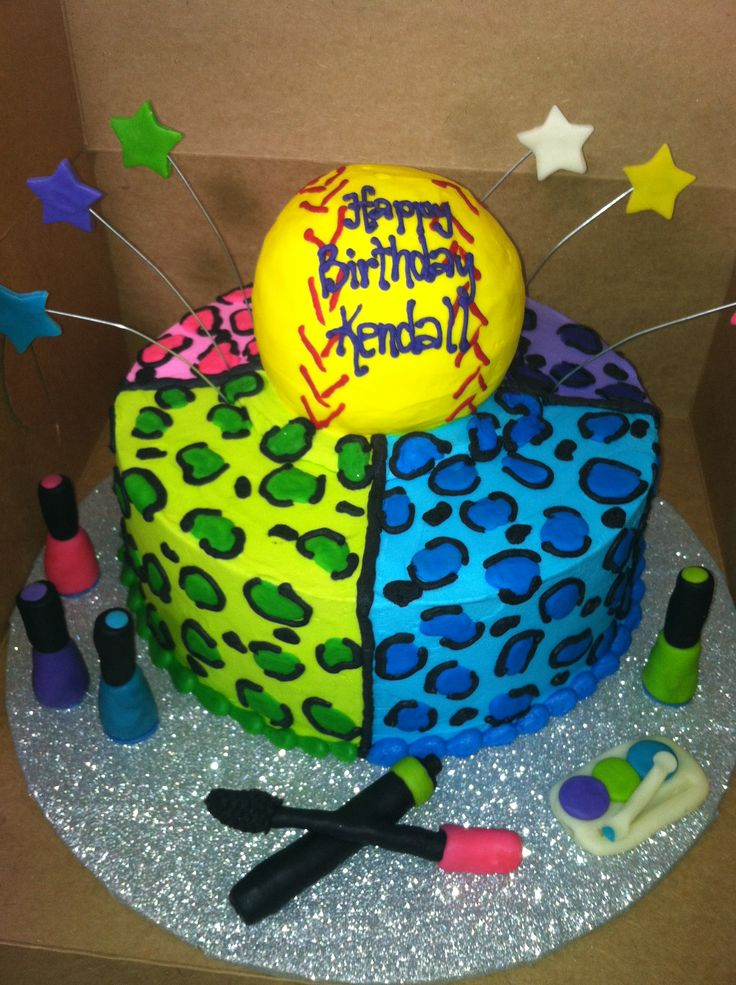 Best Cakes For My Th Images On Pinterest Birthday Party - Softball birthday cakes