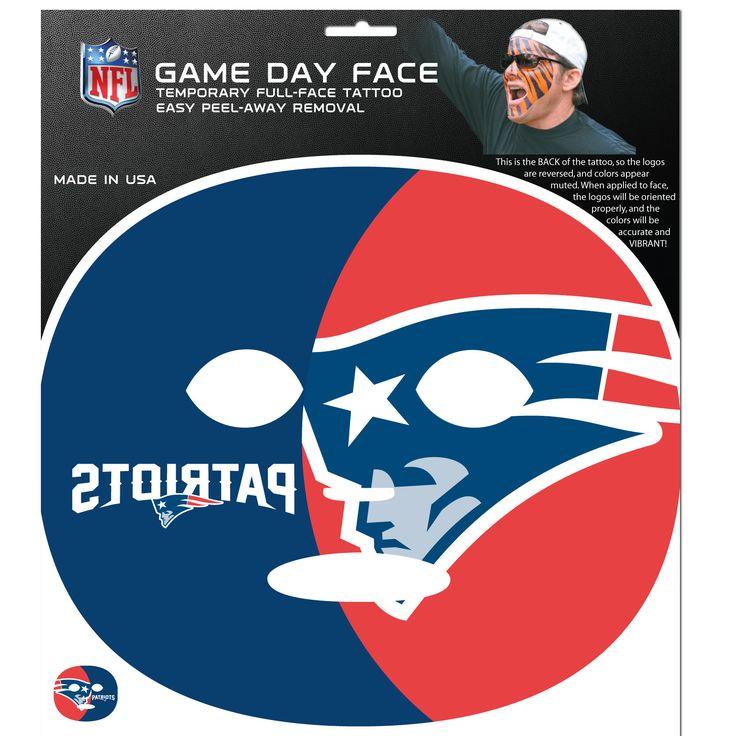 New England Patriots Game Face Temporary Tattoo