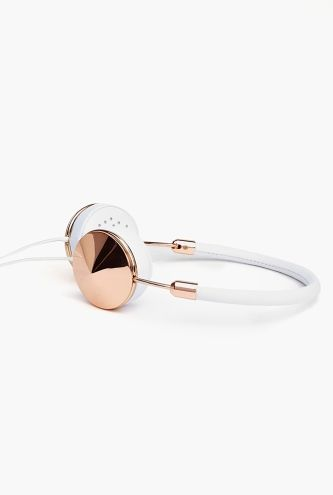 White + Rose Gold Headphones. So pretty, I almost don't care if they stay on during a #workout.