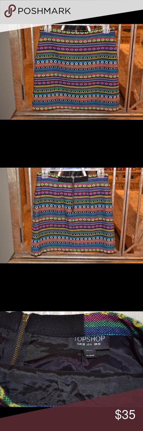 Topshop skirt Topshop skirt. beautiful stitching. US size 6 Topshop Skirts Mini