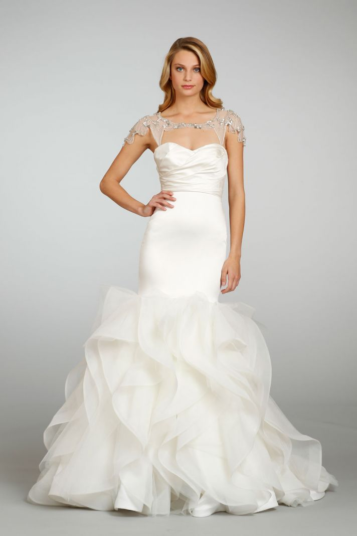 2013 wedding dress trends bridal sheer shrug