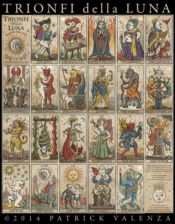 Major Arcana Tarot Card Meaning According To: 8 Best TRIONFI Della LUNA (333 Tarot Majors) Images On