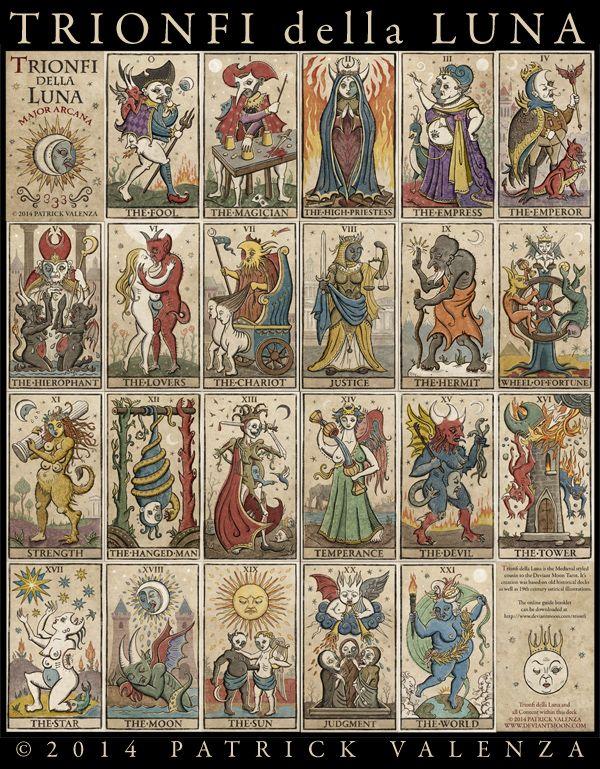 8 Best TRIONFI Della LUNA (333 Tarot Majors) Images On