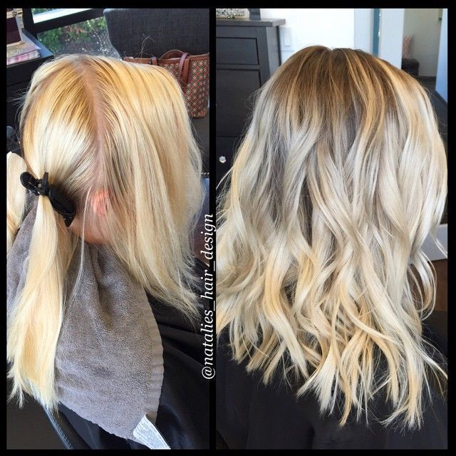 Avant-Apres : Hair Stylist//Color Specialist on Instagram: Before & After: Rooted blonde haircut & style.