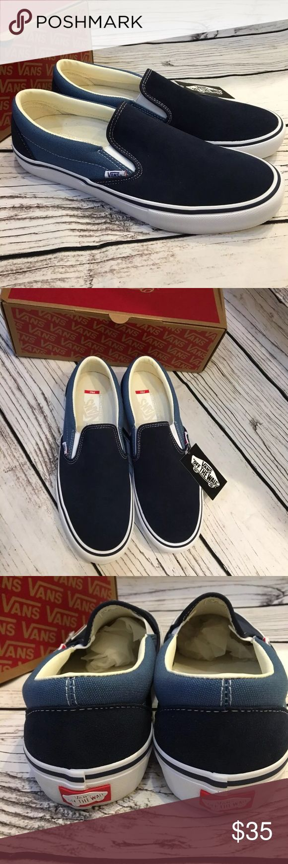 VANS Slip On Pro skate Shoes Mens 11 New In Box Retails: $65 Size: Mens 11.0 Vans Shoes Loafers & Slip-Ons