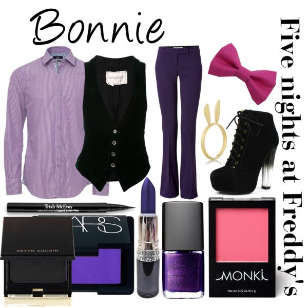 """Five nights at Freddy's inspired outfits #8 Bonnie"" by tortured-puppet on Polyvore"