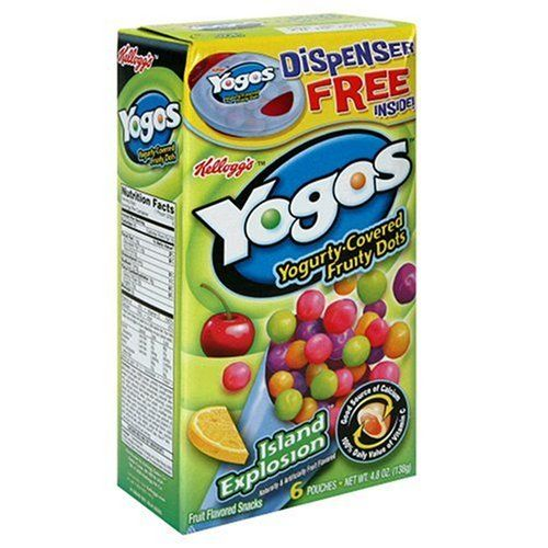 Kellogg's Yogos Island Explosion, 6-Count Pouches, 4.8-Ounce Boxes (Pack of 8)