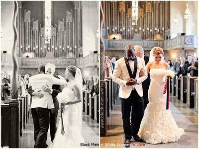 Interracial wedding... Too cute!!! <3