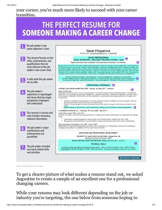 sample resumes for career change - Vatoz.atozdevelopment.co