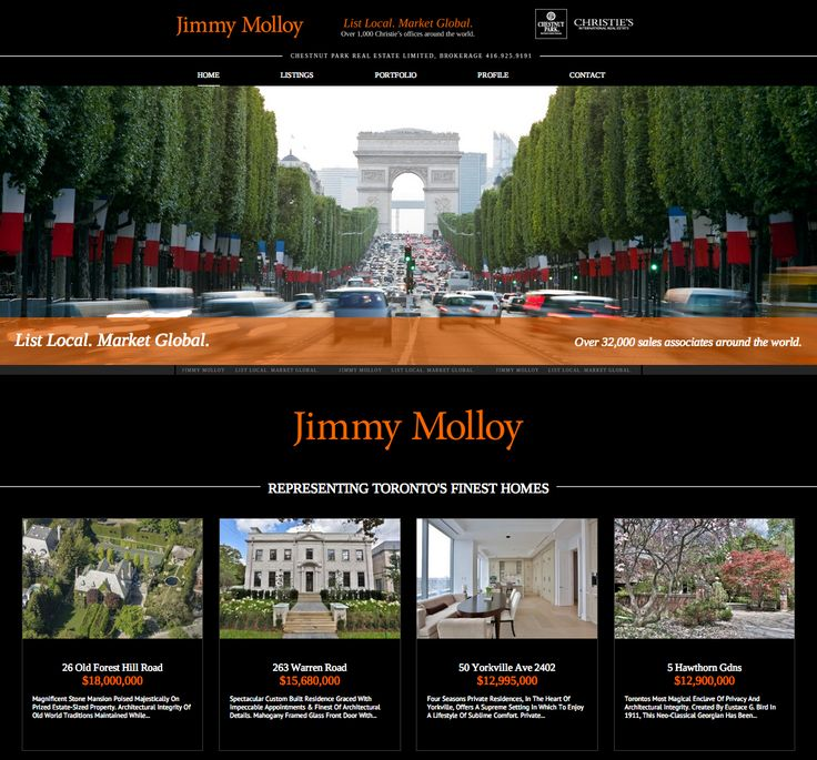 Jimmy Molloy website design by Macroblu.