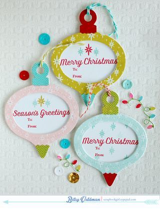 Ornament Tags by Betsy Veldman for Papertrey Ink (September 2014)