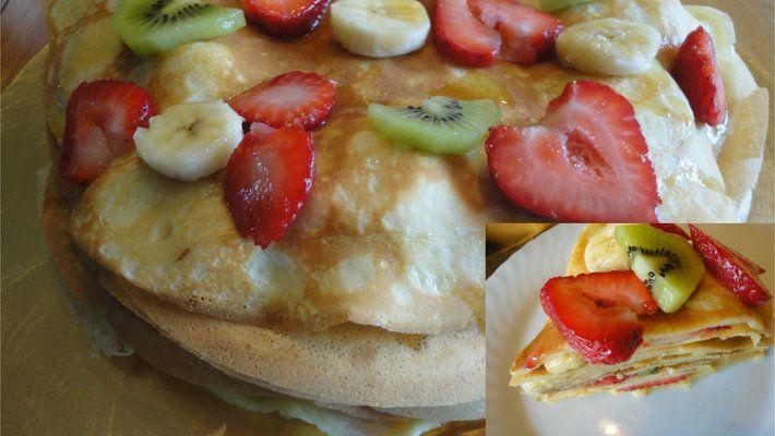 Nouvelle #recette sur le site: #crêpes étagées délicieuses. Bon dimanche! 🍌🍓