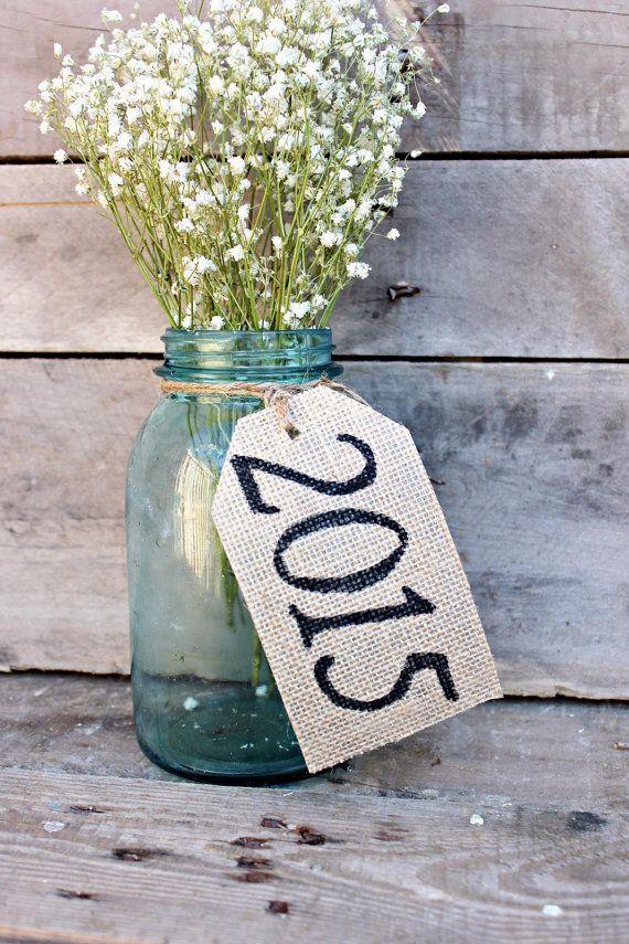 2018 Burlap Table Tags