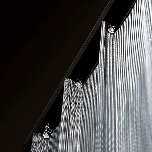 22 Best Images About Metal Mesh Curtains On Pinterest Lighting Design Metals And Live Edge Table