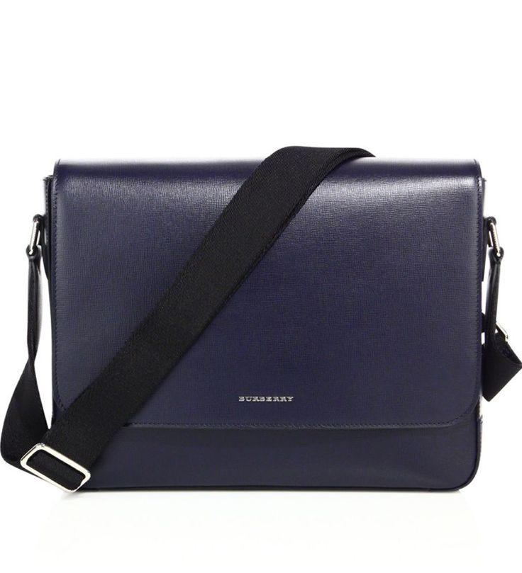 Burberry Medium London Leather Briefcase Blue            $219.00