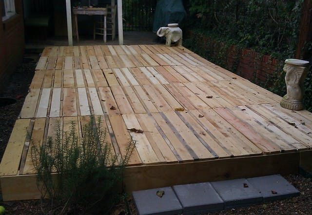 Kevin had a project in mind, and just needed a bunch of wooden pallets that were roughly equal sized. Want to see what he did with them?