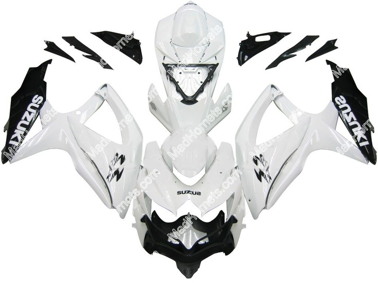 Mad Hornets - Fairings Suzuki GSXR 600 750 White Black GSXR Racing  (2008-2009), $599.99 (http://www.madhornets.com/fairing-bodywork-for-suzuki-gsxr-600-750-white-black-gsxr-racing-2008-2009/)
