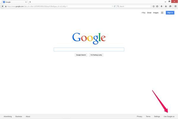 Go to Google.com in Internet Explorer.