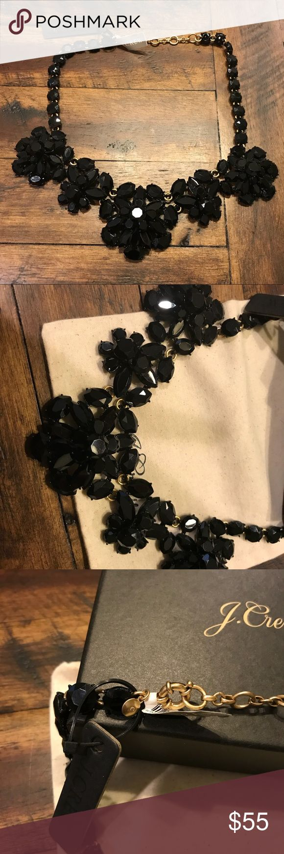 Jcrew Black Statement Necklace NWT Jcrew Statement Necklace. Beautiful black statement necklace. This necklace is perfect to wear for parties and weddings. It's even great to dress up a t-shirt! Comes with Jcrew jewelry box and dust bag. J. Crew Jewelry Necklaces