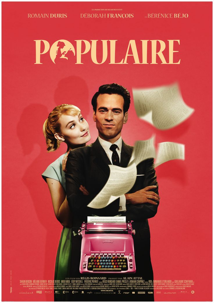 Writer-director Régis Roinsard's 2012 feature debut starring Romain Duris, Déborah François, and Bérénice Bejo; a 1950s-set French romantic comedy named Populaire