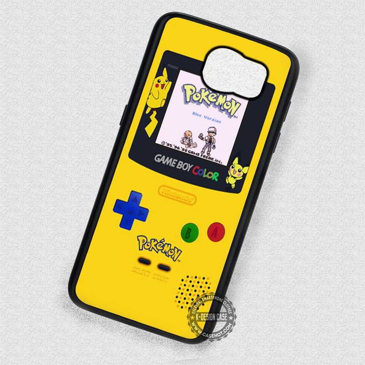 Yellow Console Image Pokemon Gameboy - Samsung Galaxy S7 S6 S5 Note 7 Cases & Covers