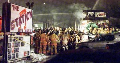 The aftermath of The Station nightclub fire