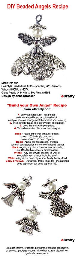Make Ahead Gifts: DIY Beaded Angels Recipe from eCrafty.com